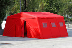Emergency tent royalty free stock images