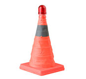 Emergency traffic cone lamp isolated  Stock Photography
