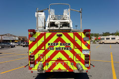 An emergency truck parked at a walmart in british columbia Royalty Free Stock Photo