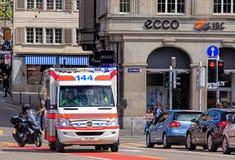 Emergency van in Zurich, Switzerland Stock Image