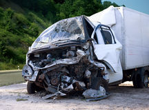 Emergency vehicle. The accident on the road Royalty Free Stock Image
