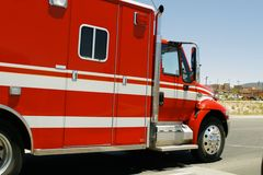 Emergency Vehicle. Truck Emergency Medical Technician, EMT Royalty Free Stock Photography