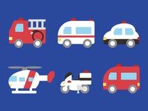 Emergency vehicle stock illustration