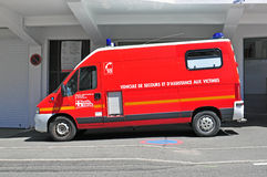 Emergency vehicle in France Royalty Free Stock Images