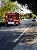 Emergency Vehicle of Sacramento Fire Department. (SCD) on the way royalty free stock photography