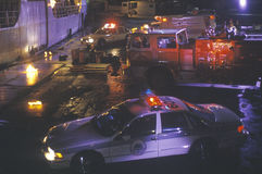 Emergency vehicles at dockside Royalty Free Stock Image