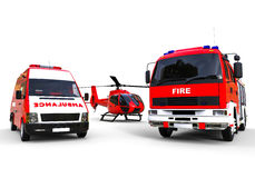 Emergency vehicles fleet Stock Photos