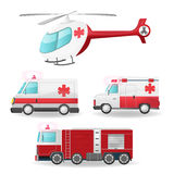 Emergency Vehicles Isolate Collection Set Vector Royalty Free Stock Photo