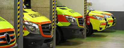 Emergency vehicles Royalty Free Stock Images