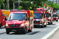 Emergency vehicles at NDP 2010 Stock Image