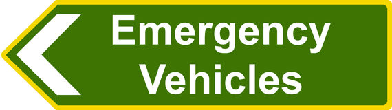 Emergency vehicles sign Royalty Free Stock Image