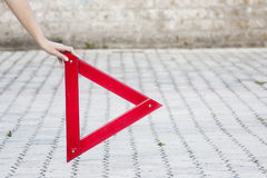 Emergency warning triangle Royalty Free Stock Image