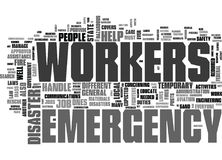 Are Emergency Workers Only Firefighters Word Cloud. ARE EMERGENCY WORKERS ONLY FIREFIGHTERS TEXT WORD CLOUD CONCEPT Stock Photo