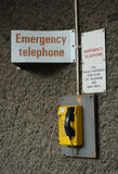 Emergency yellow telephone Royalty Free Stock Photography