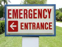 EmergencyEntrance Sign. Emergency entrance sign for outpatient center royalty free stock image