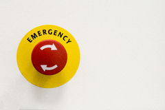 Emergeny button Royalty Free Stock Image