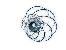 Emergenza della geometria di anima Fotografie Stock Libere da Diritti