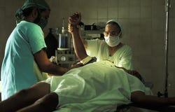 Emergenza nella sala operatoria, Brasile fotografia stock