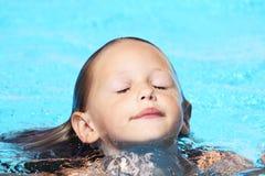 Emerger da água Imagens de Stock Royalty Free
