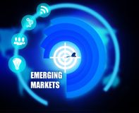 Emerging Markets background plan color. Emerging Markets color yellow red stock illustration