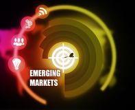 Emerging Markets concept plan graphic. Emerging Marketing Concept plan graphic background Royalty Free Stock Images