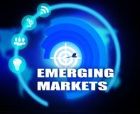 Emerging Markets concept plan graphic. Background Royalty Free Stock Photos