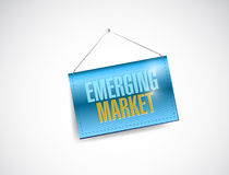 Emerging markets sign illustration design Stock Photo
