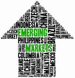 Emerging markets. Word cloud illustration. Royalty Free Stock Photos
