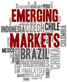 Emerging markets. Word cloud illustration. Stock Photo
