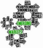 Emerging markets. Word cloud illustration. Royalty Free Stock Photography