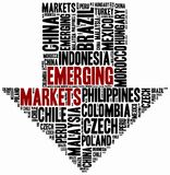 Emerging markets. Word cloud illustration. Emerging markets. Word cloud illustration related to developing economies Royalty Free Stock Images