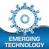 Emerging Technology Dotted Gear Blue Square Stock Photography