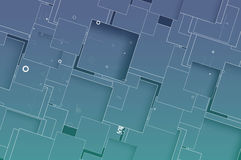 Emerging Technology Network cube Royalty Free Stock Images