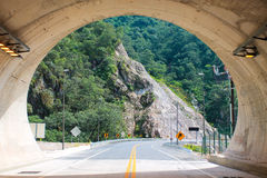 Almost emerging from the tunnel Stock Photography