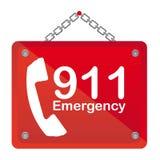 emergência 911 Imagens de Stock Royalty Free