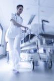 Emergência paciente do hospital da marquesa da maca do borrão de movimento Imagem de Stock Royalty Free
