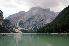 The  lake of Braies Royalty Free Stock Images