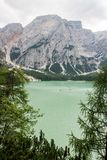The  lake of Braies Stock Images