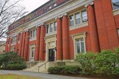 Emerson Hall dans la cour de Harvard de l'Université d'Harvard à Cambridge Image stock