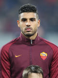 Emerson Palmieri. Dos Santos, player of AS Roma, pictured before the Europa League match against Astra Giurgiu, 0-0 the final score Stock Photos