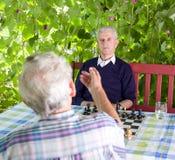 Emeryci opowiada w ogródzie zdjęcie stock