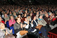 Emeryci - widownia dobroczynność koncert Zdjęcia Stock