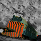 emerytowany lokomotywa Obrazy Stock