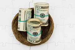 emerytura skrytki oszczędzania obraz stock