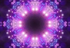 Emettendo luce in tondo con le stelle Immagini Stock Libere da Diritti