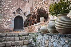 Emialon, ущелье Lousias, Пелопоннес, Греция Стоковая Фотография