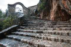 Emialon Lousias klyfta, Peloponnese, Grekland Arkivfoto