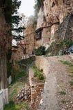 Emialon Lousias klyfta, Peloponnese, Grekland Royaltyfri Fotografi