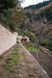 Emialon Lousias klyfta, Peloponnese, Grekland Arkivbilder
