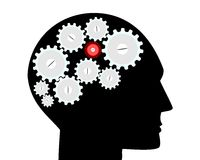 Emicrania del cervello Immagine Stock Libera da Diritti